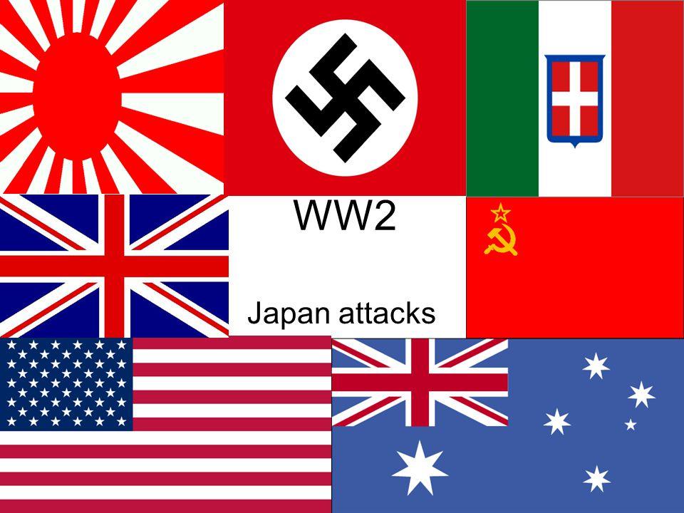 WW2 Japan attacks