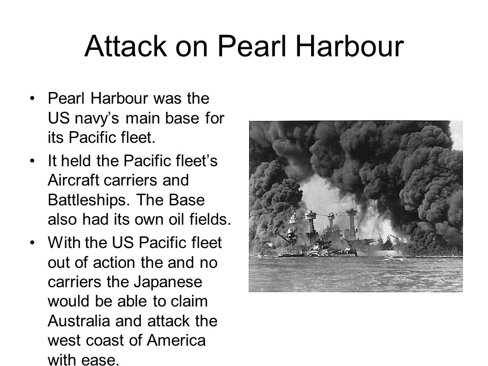 The Speed The speed of the attacks were for not just the purpose of surprise but the Japanese were on a deadline.