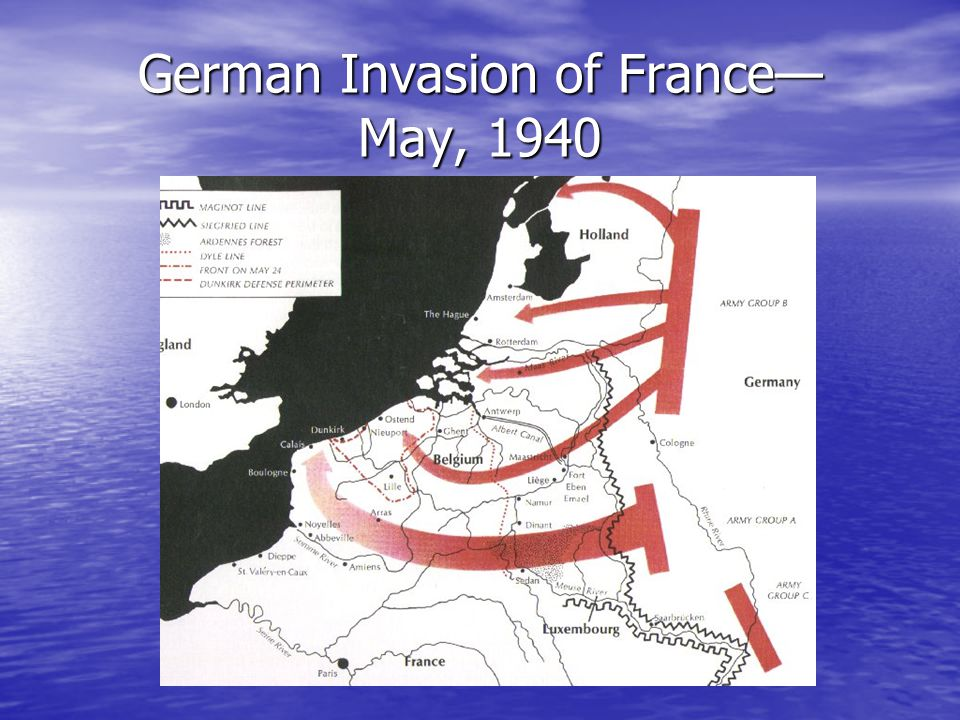 German Invasion of France— May, 1940
