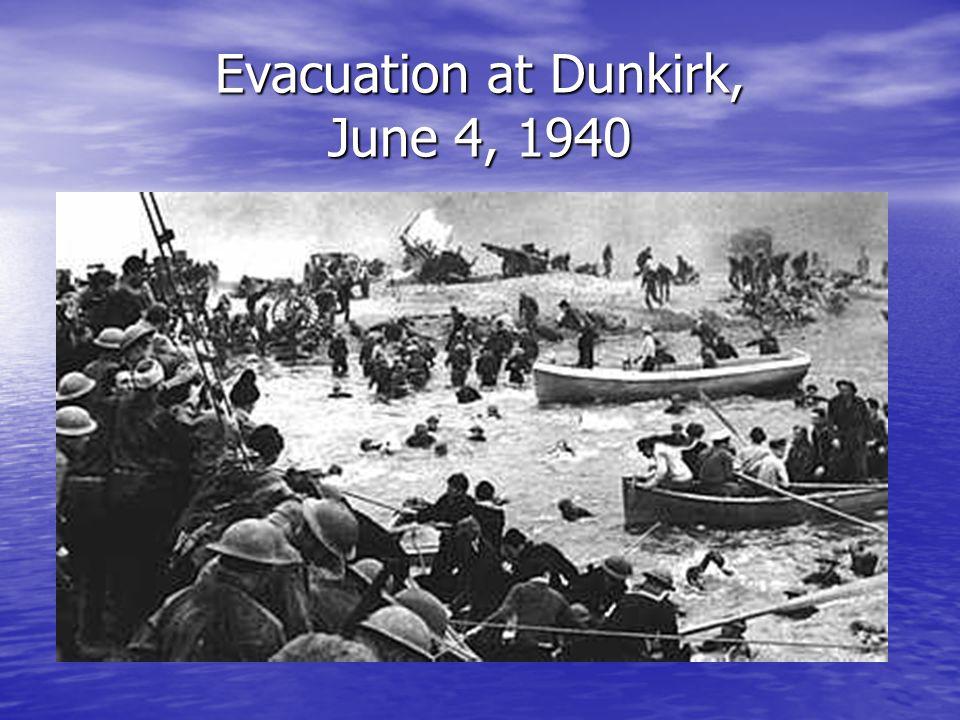 Evacuation at Dunkirk, June 4, 1940