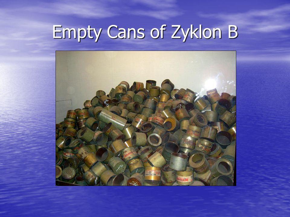 Empty Cans of Zyklon B
