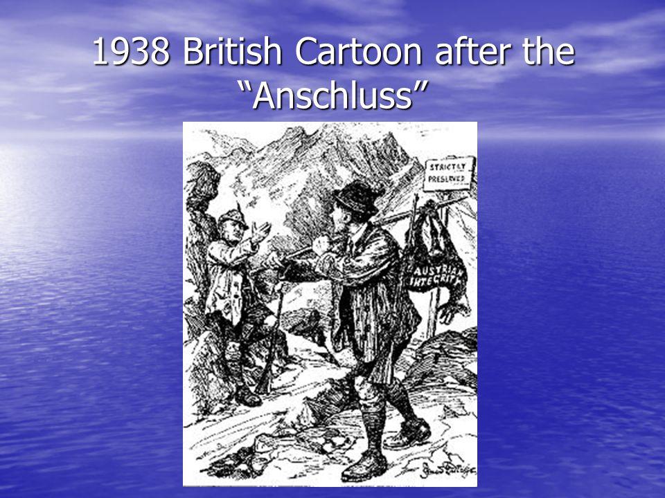 1938 British Cartoon after the Anschluss