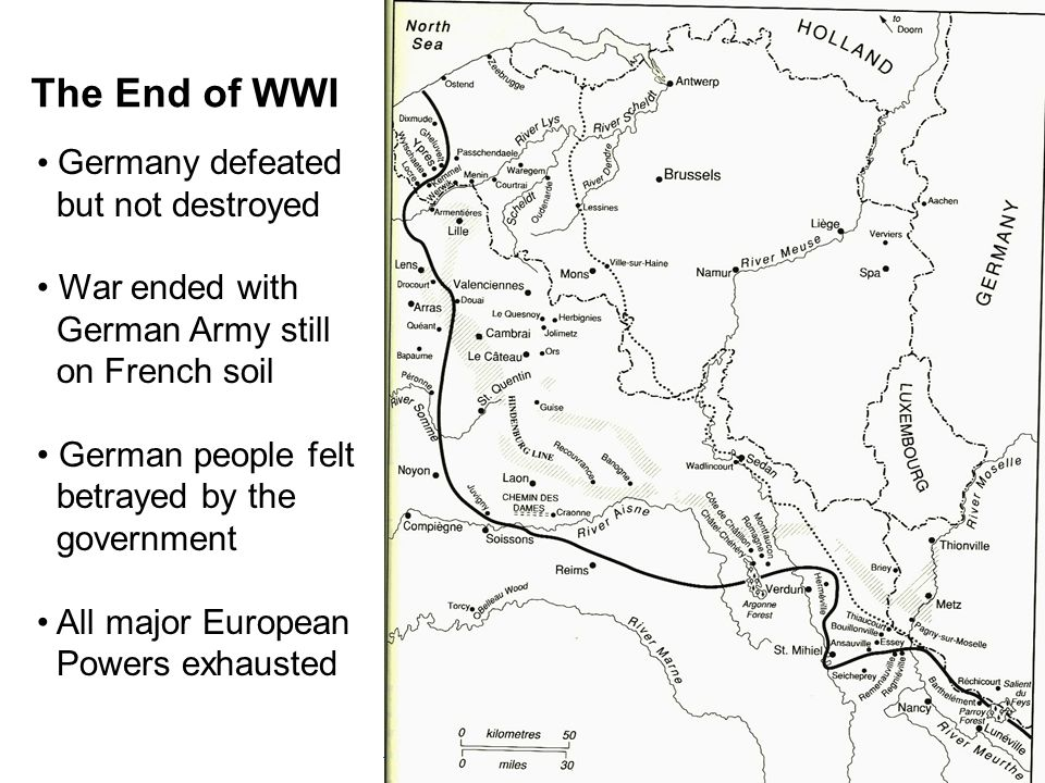 The Continuation of the First World War, 1939-1941 The Versailles Settlement Drawn up by peace congress in Paris made up of French, British, American delegations, assisted by a myriad of diplomats from other minor allied powers.
