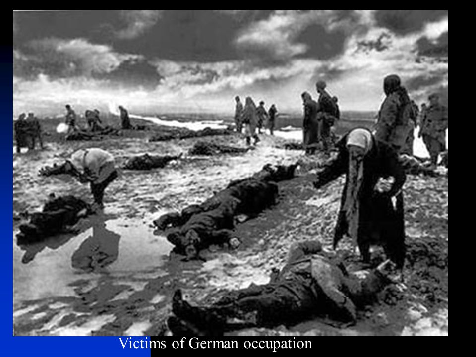 Victims of German occupation