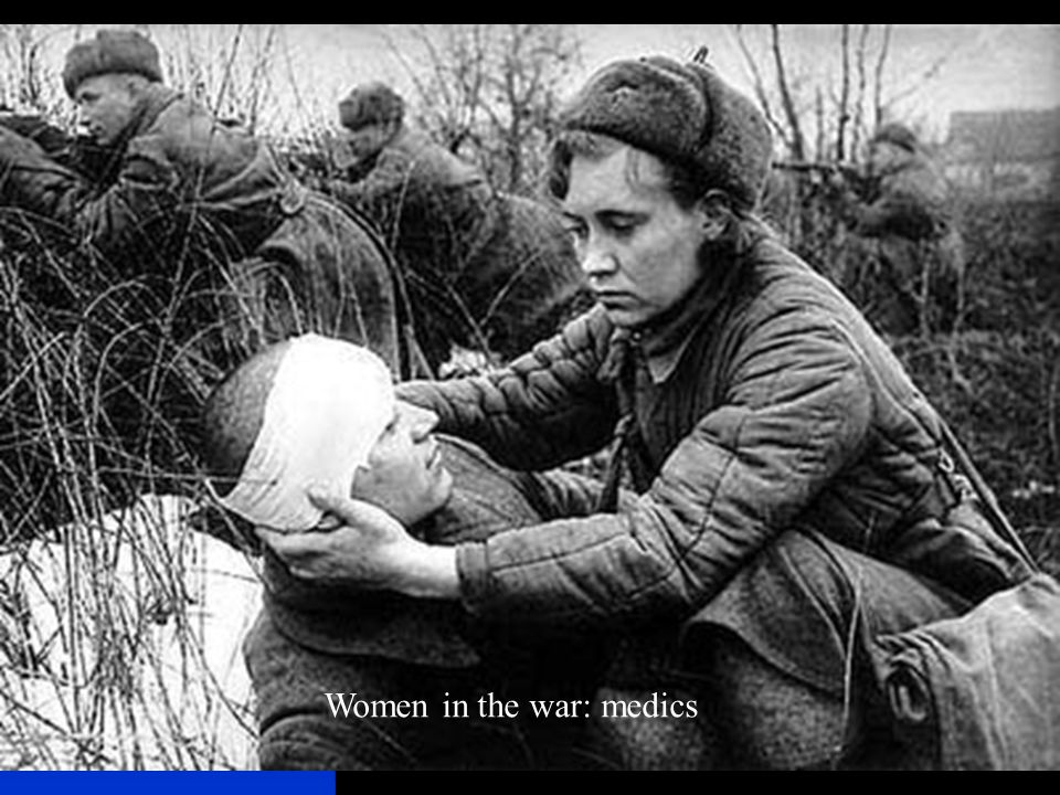 Women in the war: medics
