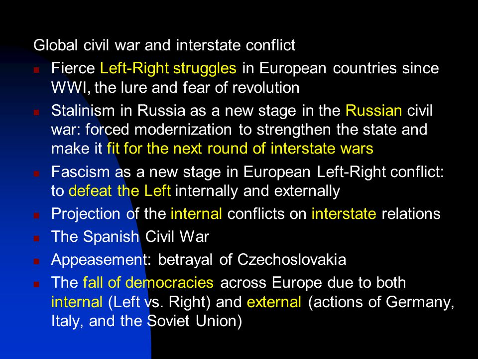 The geopolitical triangle: Axis powers (Germany, Italy, Japan), USSR, Western democracies (WDs) USSR WDs Axis