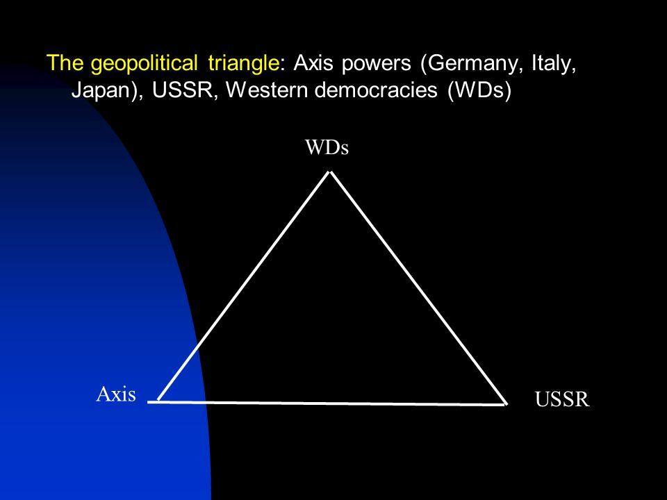 As a state committed to world revolution, the Soviet Union was viewed as a threat by Western elites The rise of fascism was partly a response to the threat – and anticommunism was one of the motives of Western appeasement of Hitler But the Axis powers were also challenging other Great Powers in Europe and Asia – the continuing conflict between empires In the 1920s-early 1930s, before Hitler's coming to power in Germany, USSR cooperated with Germany against Britain and France When Germany became a radical anticommunist force, USSR and Western democracies discussed collective security arrangements to prevent Hitler's aggression – without success Then Britain, France and the USSR made their separate deals with Hitler, which enabled him to start World War II