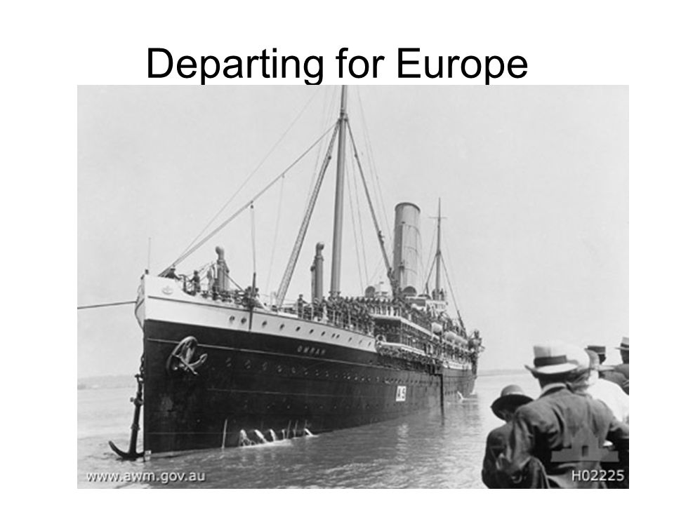 Departing for Europe