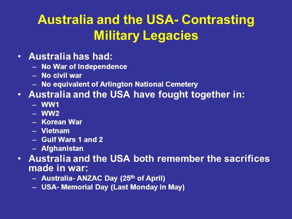 A Profile of Australians at War The Boer War- 1899-1902 WW1- 1914-1918 WW2- 1939-1945 The Korean War- 1950-1953 The Vietnam War- 1962-1975 Iraq War 1- 1990 Iraq War 2- 2003 to the present Afghanistan- 2002 to the present