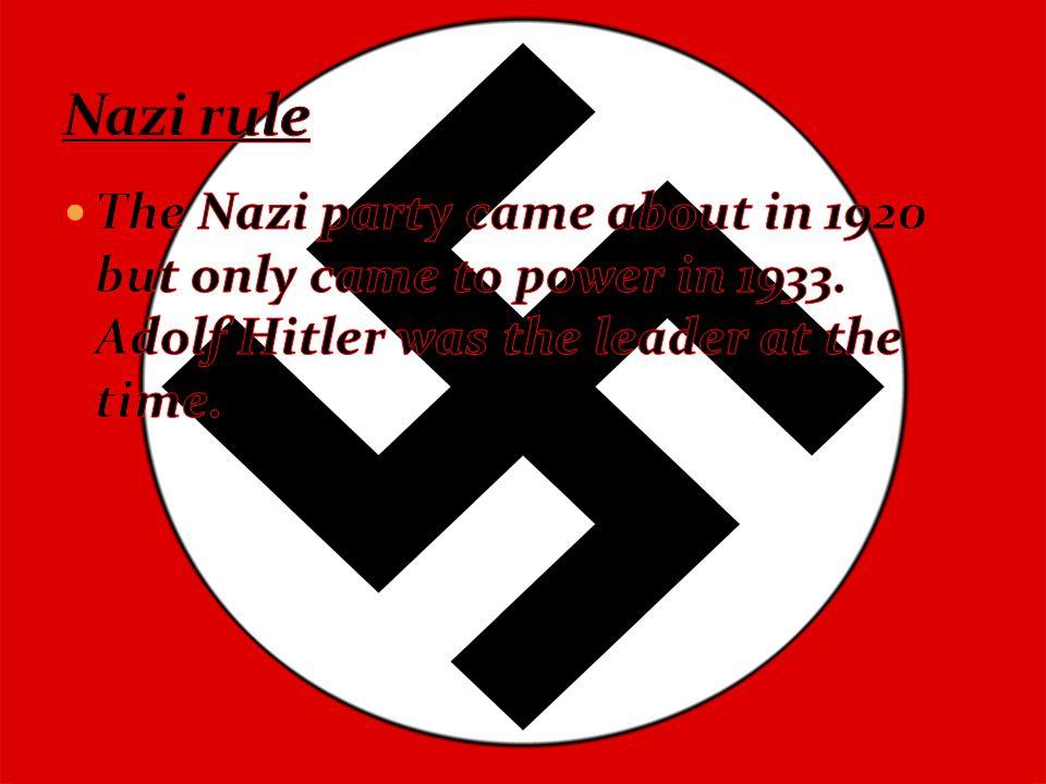 Jewish people in Nazi-Germany were treated like vermin.