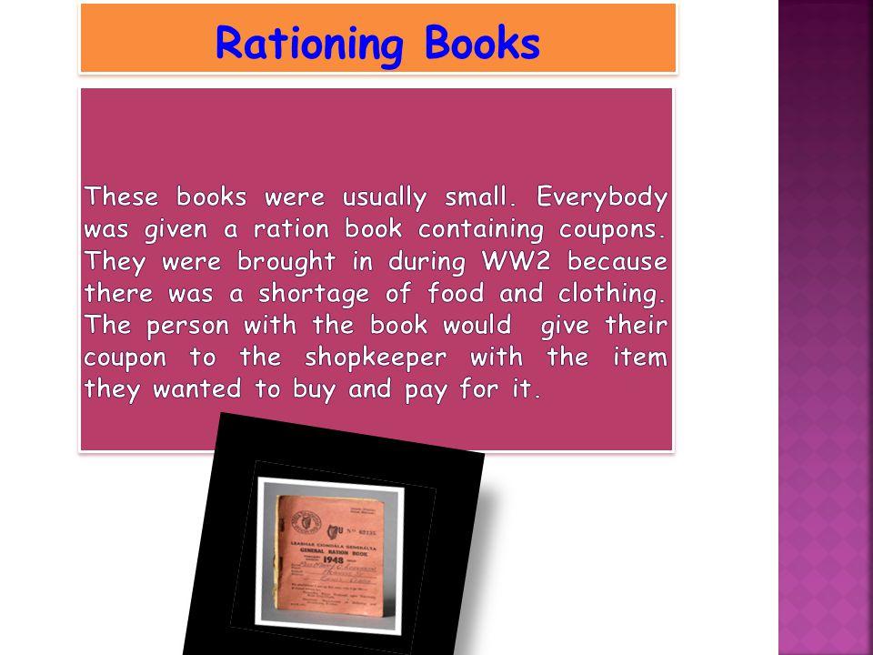 Rationing Books