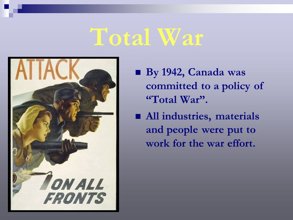 Financing the War The Canadian Government did raise taxes during the Second World War to help offset the cost of financing the war.