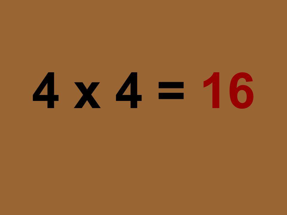 4 x 4 = 16
