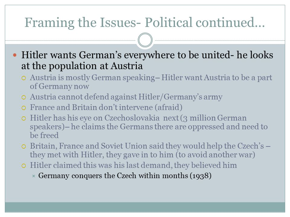The German Empire--- through Hitler Hitler wants to create a large Empire Strength by power and numbers!