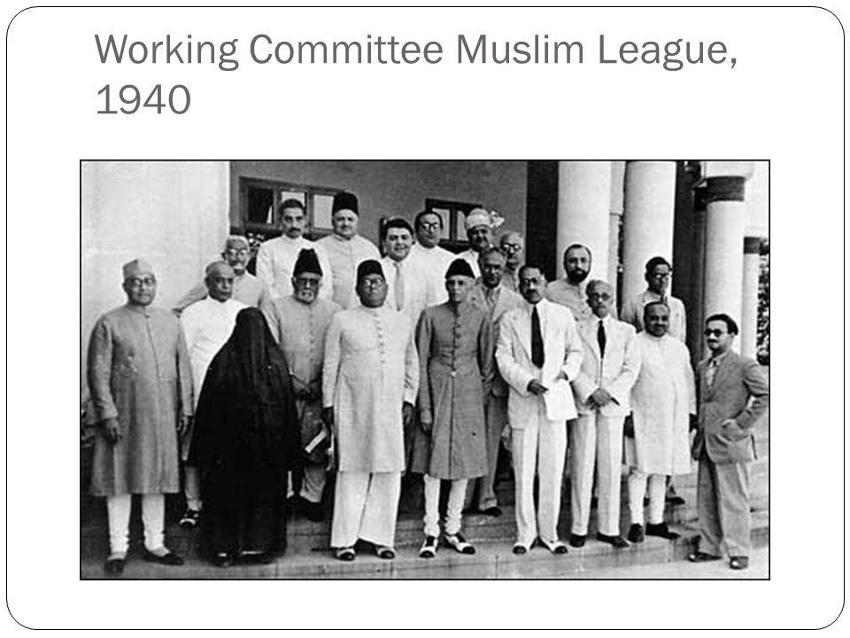 Working Committee Muslim League, 1940