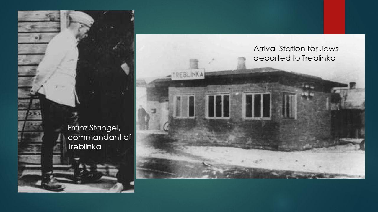 Franz Stangel, commandant of Treblinka Arrival Station for Jews deported to Treblinka