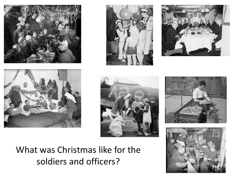 What was Christmas like for the soldiers and officers