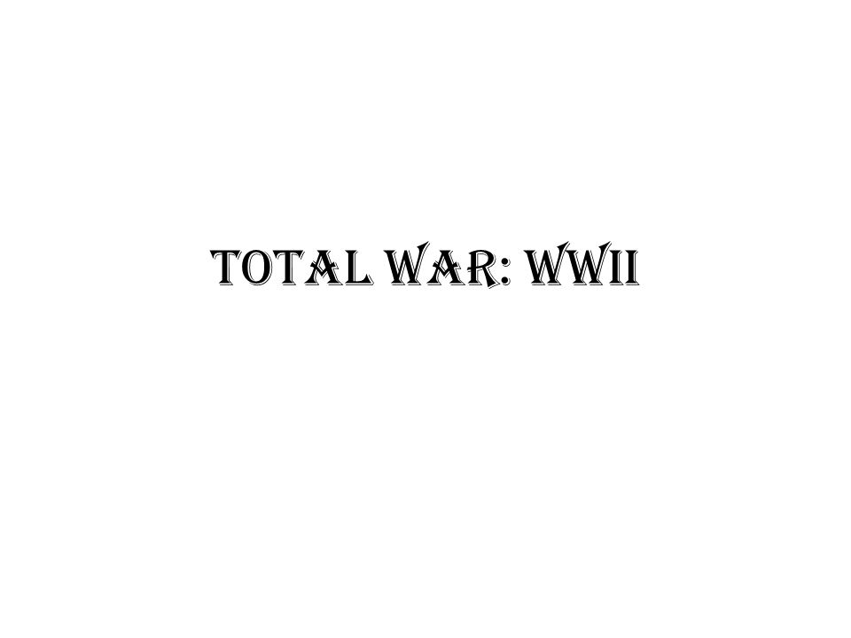 Total War: WWII