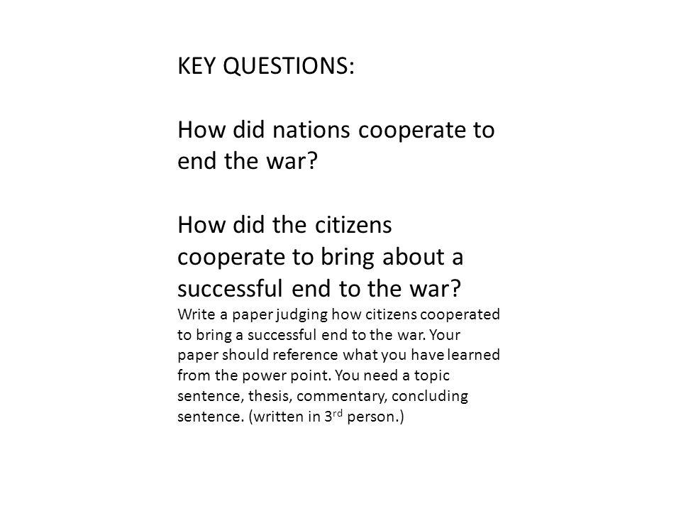 Total war has 2 components.