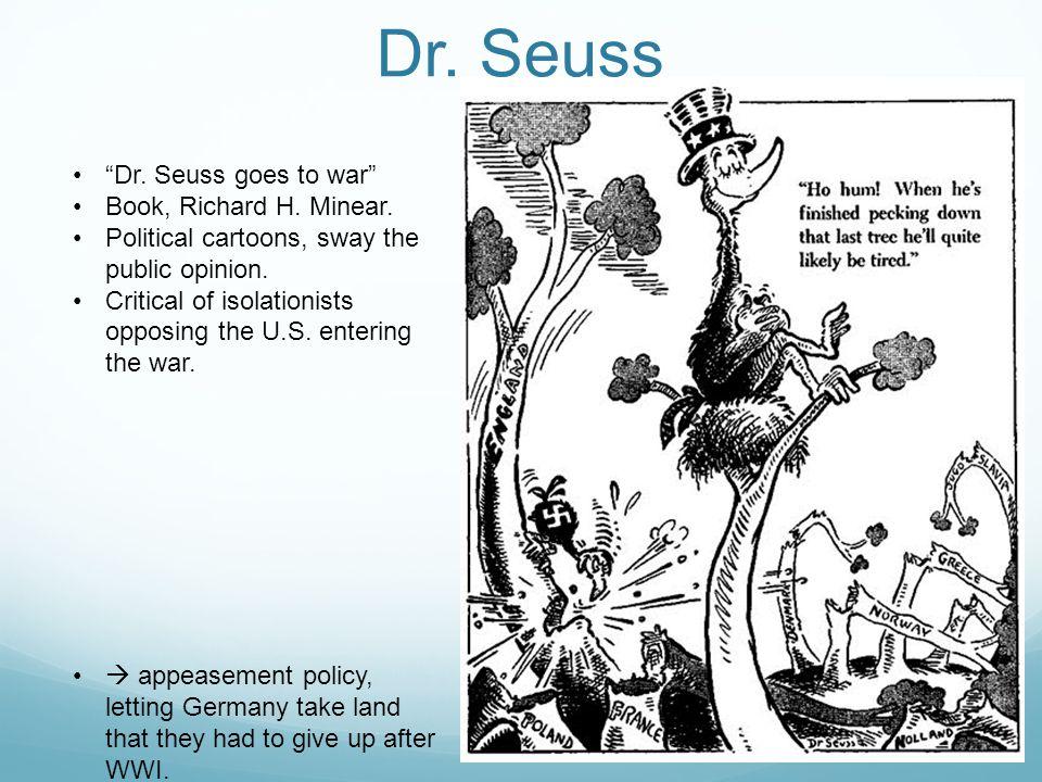 Dr. Seuss Dr. Seuss goes to war Book, Richard H.