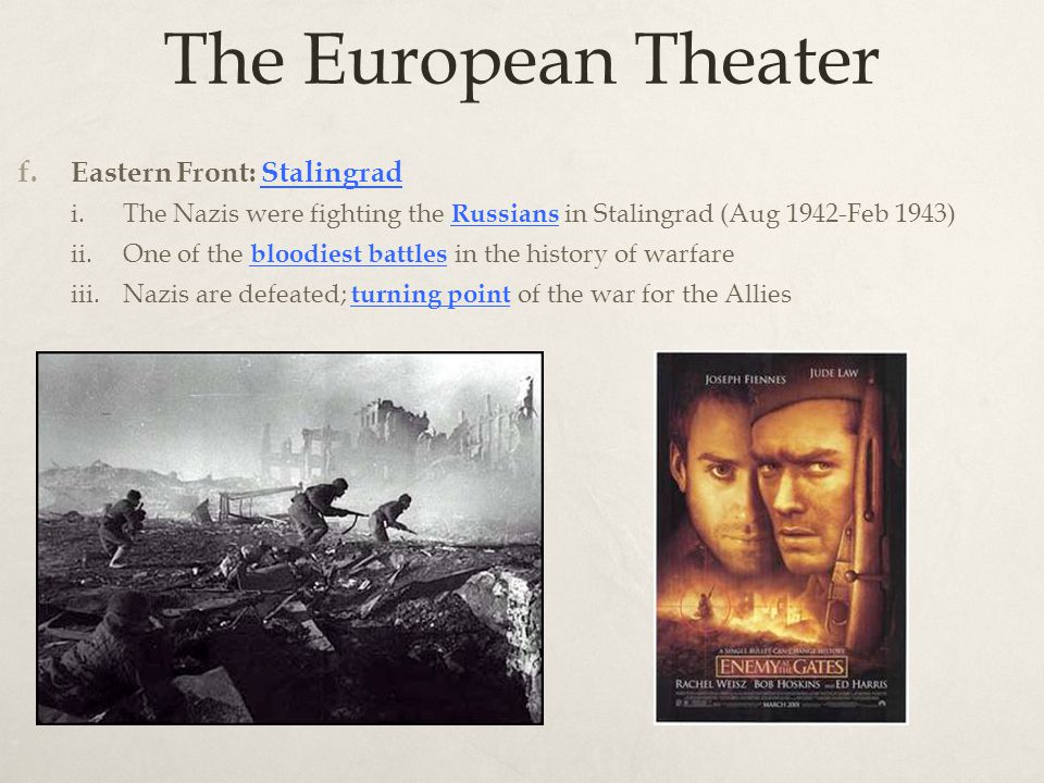 The European Theater f.