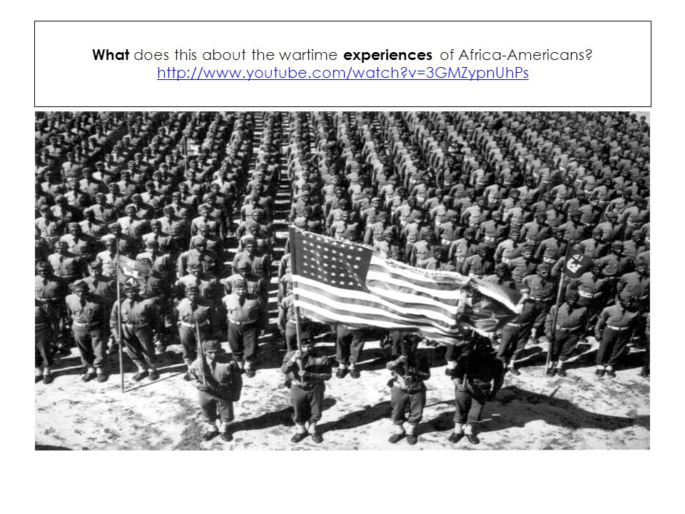 What does this about the wartime experiences of Africa-Americans.