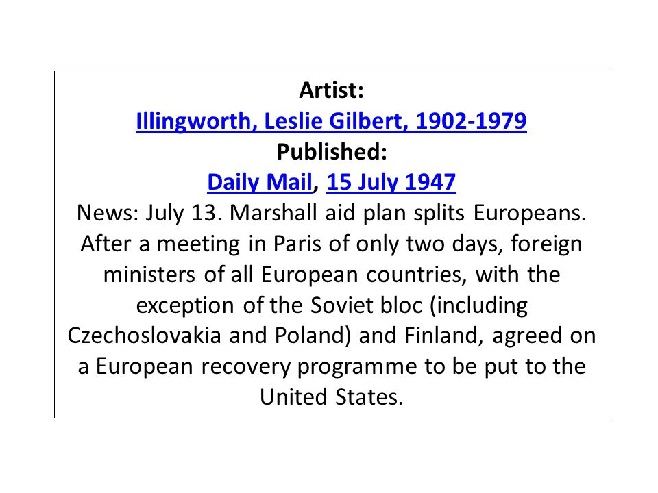 Artist: Illingworth, Leslie Gilbert, 1902-1979 Published: Daily MailDaily Mail, 15 July 194715 July 1947 News: July 13.