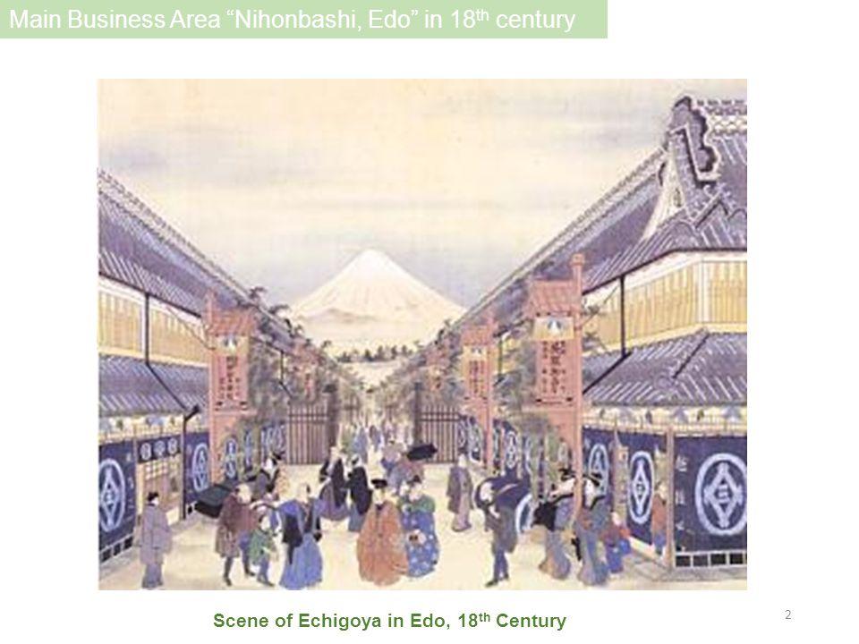 Scene of Echigoya in Edo, 18 th Century Main Business Area Nihonbashi, Edo in 18 th century 2