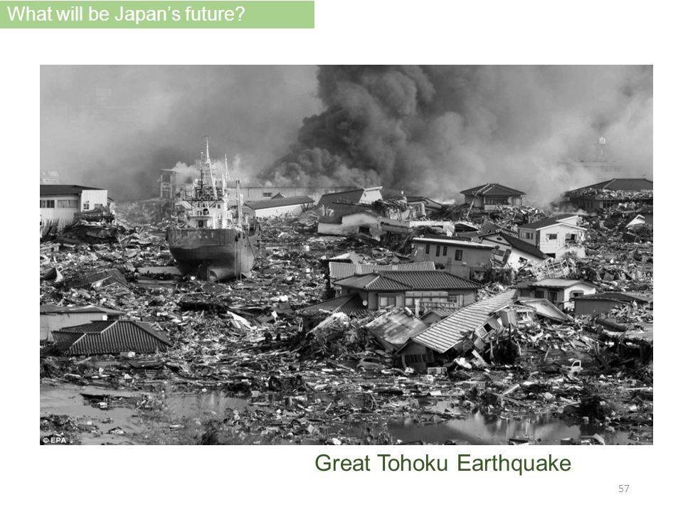 Great Tohoku Earthquake What will be Japan's future? 57