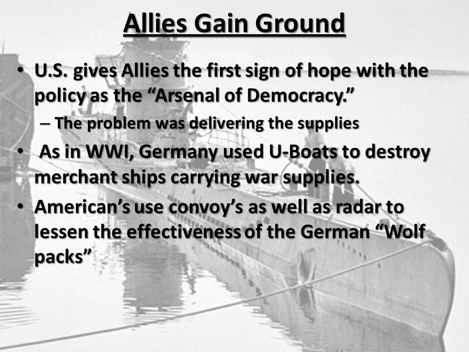 Allies Gain Ground U.S.
