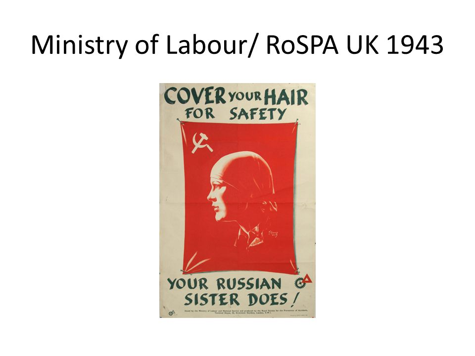 Ministry of Labour/ RoSPA UK 1943