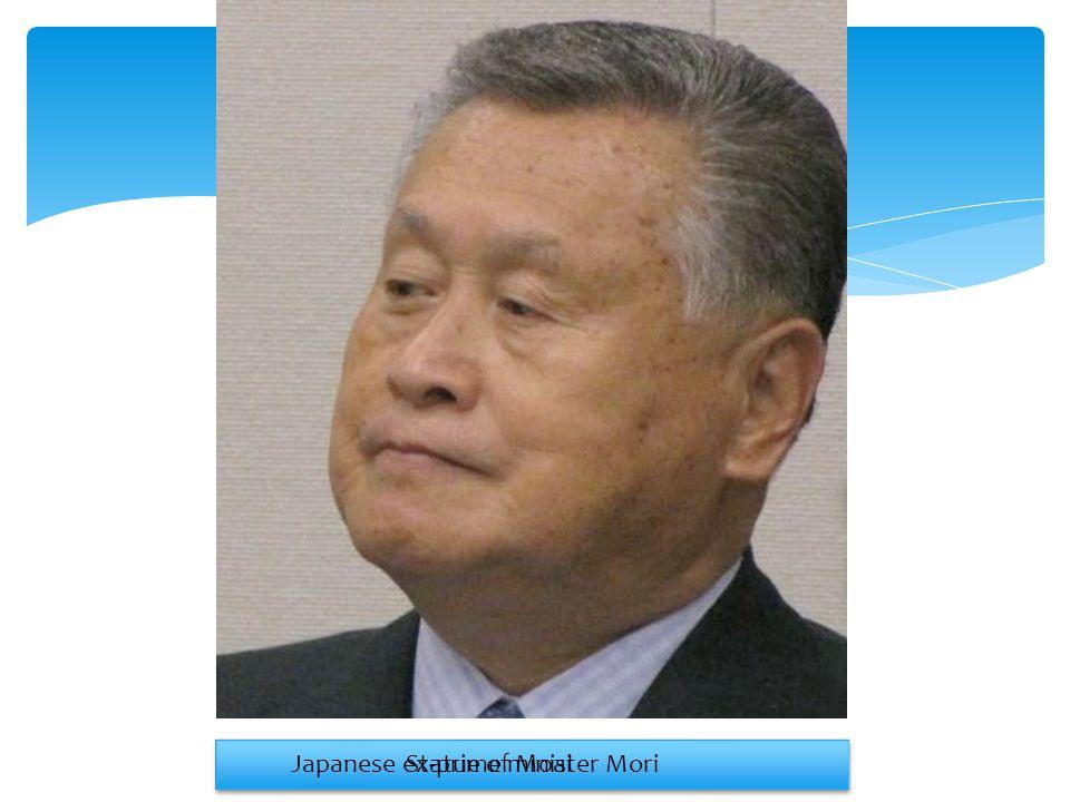 Statue of MoaiJapanese ex-prime minister Mori