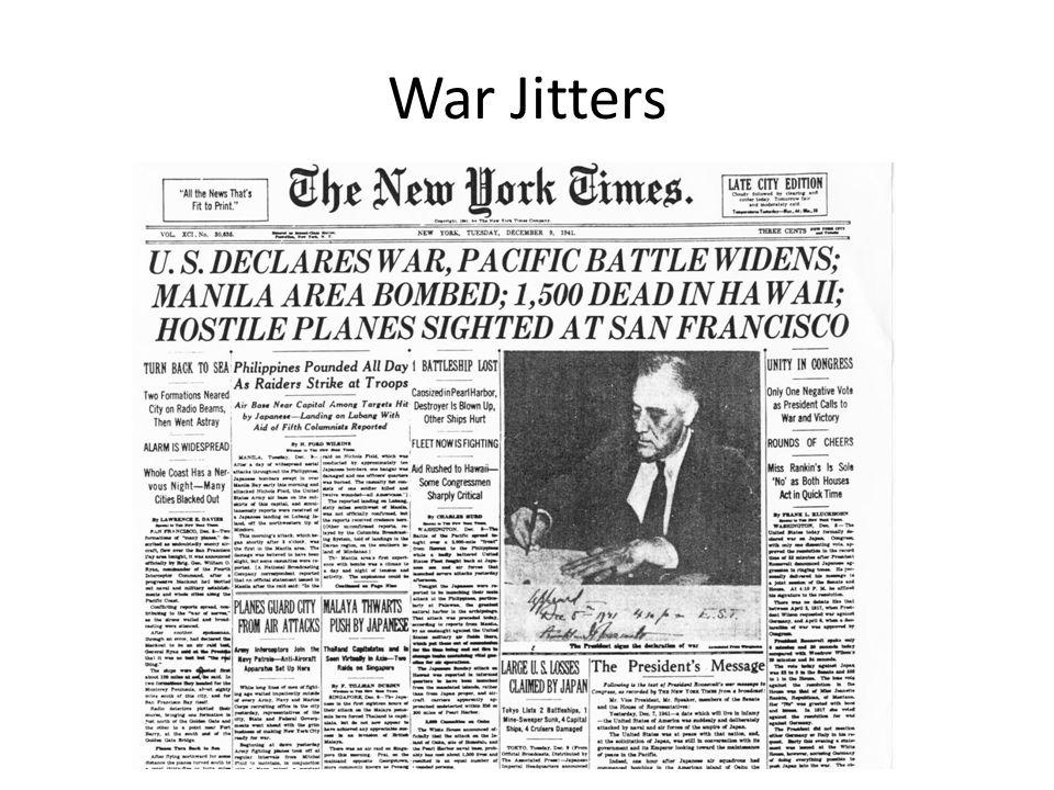 War Jitters