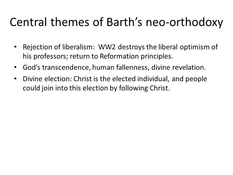 Neo-orthodoxy's lasting influence Hans Urs von Balthasar (1905-1988) was an influential interpreter of Barth to Catholics.