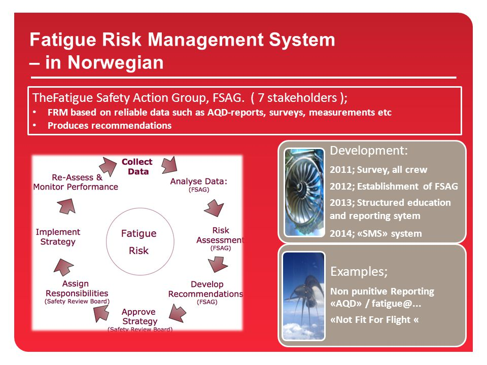 Fatigue Risk Management System – in Norwegian TheFatigue Safety Action Group, FSAG.