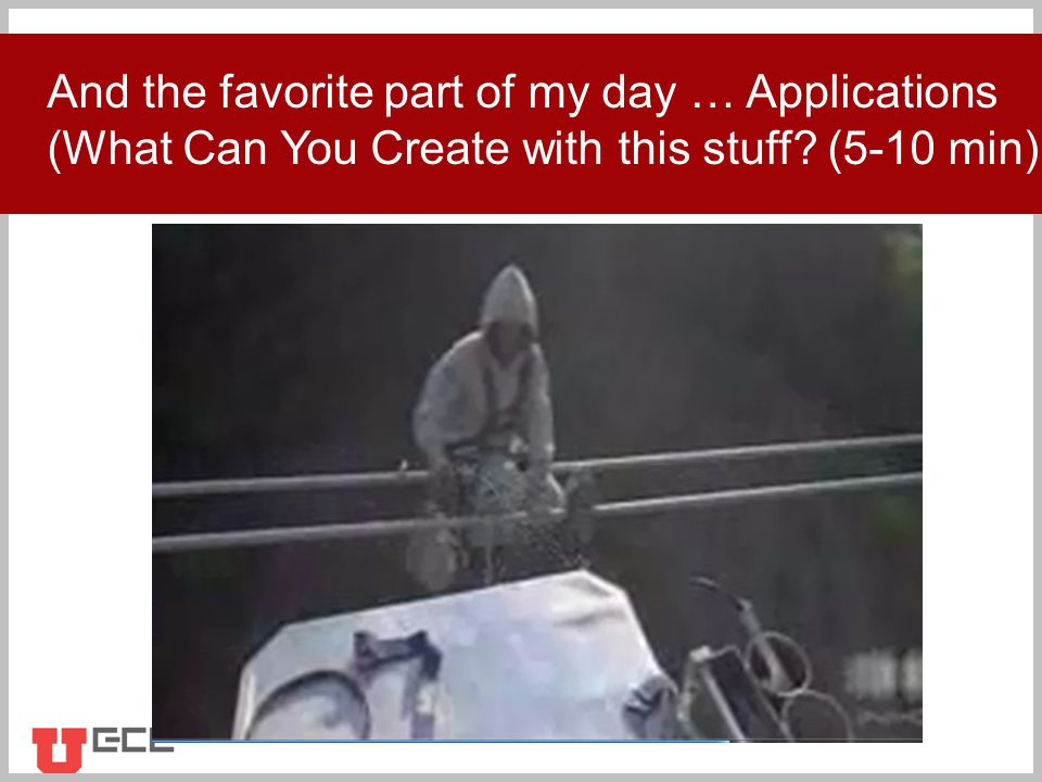 Click to add title And the favorite part of my day … Applications (What Can You Create with this stuff.