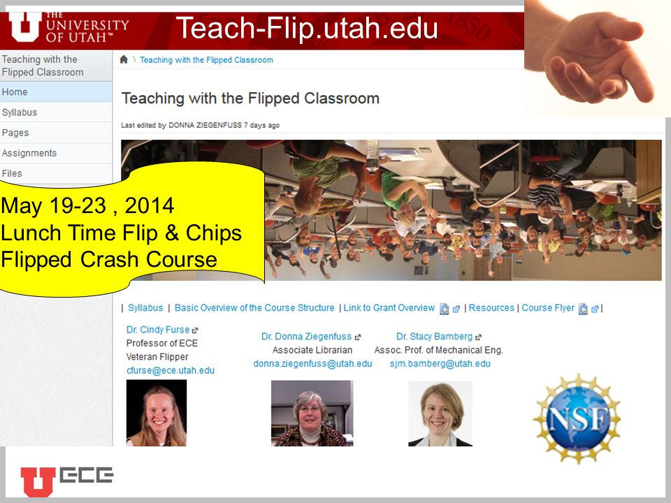 Click to add title Teach-Flip.utah.edu May 19-23, 2014 Lunch Time Flip & Chips Flipped Crash Course