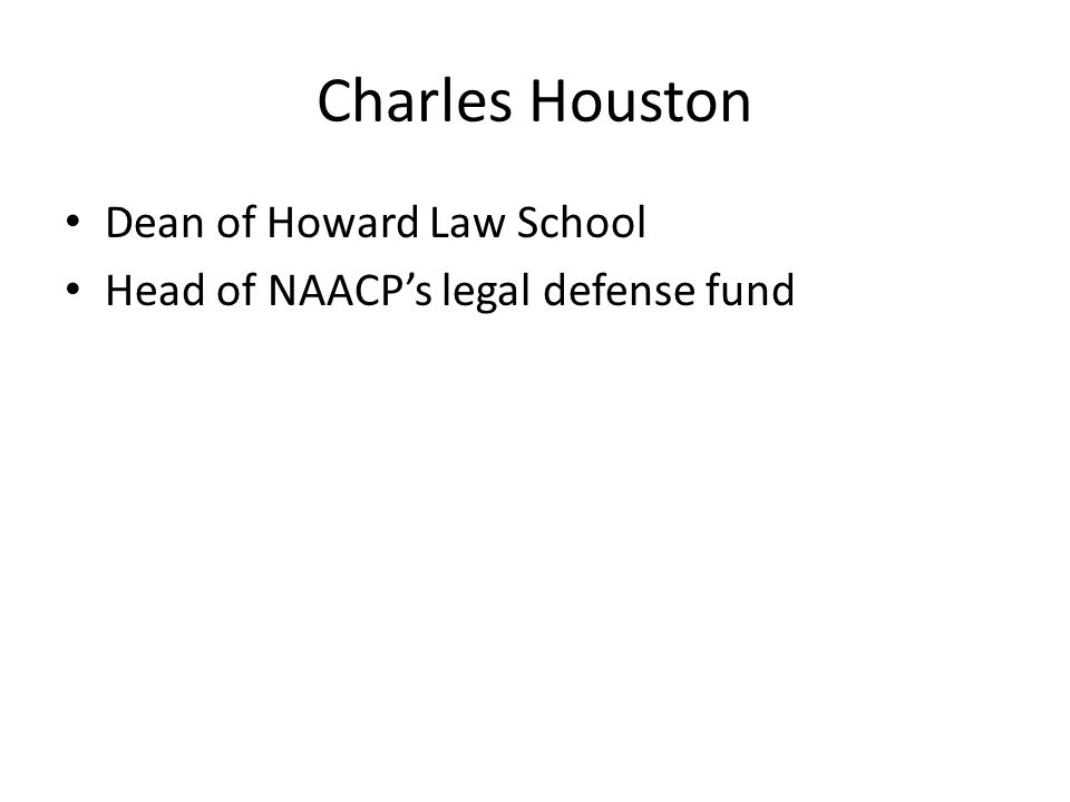 Dean of Howard Law School Head of NAACP's legal defense fund