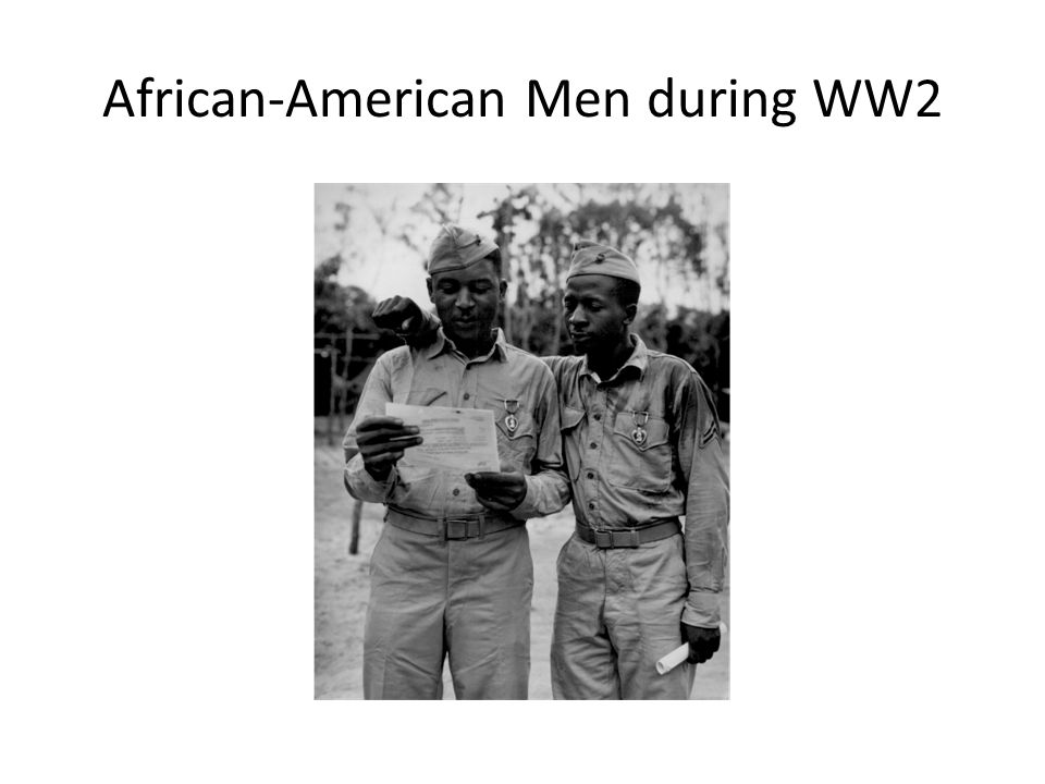 African-American Men during WW2