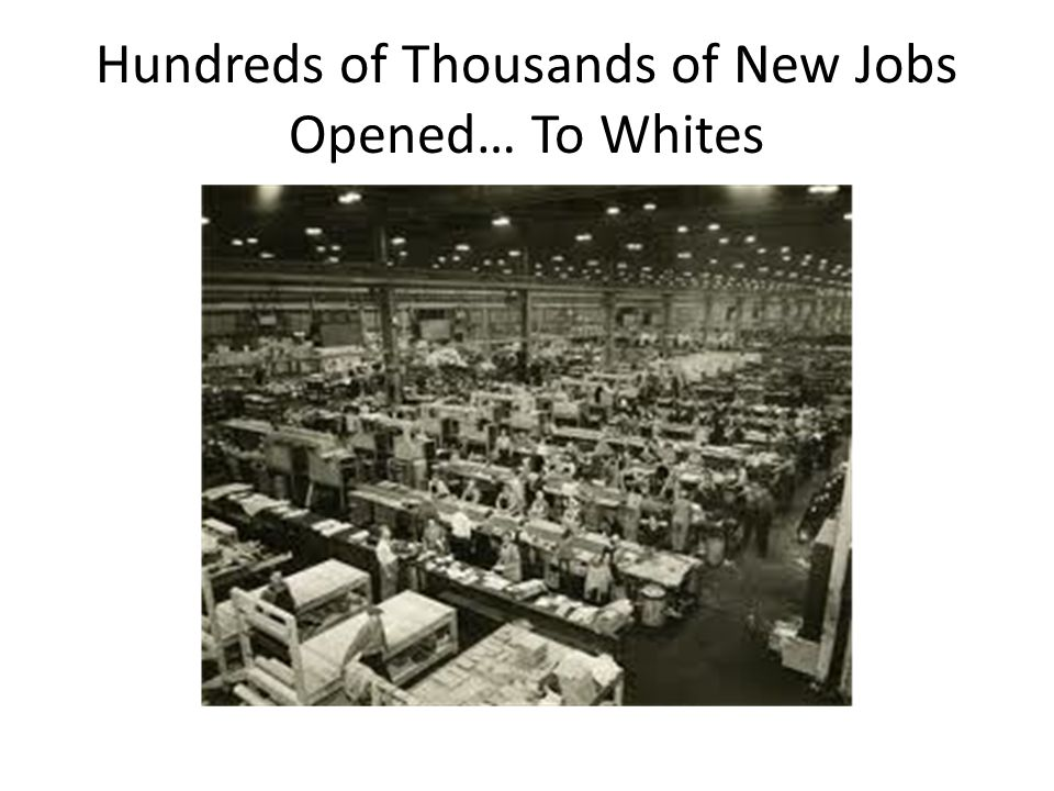 Hundreds of Thousands of New Jobs Opened… To Whites