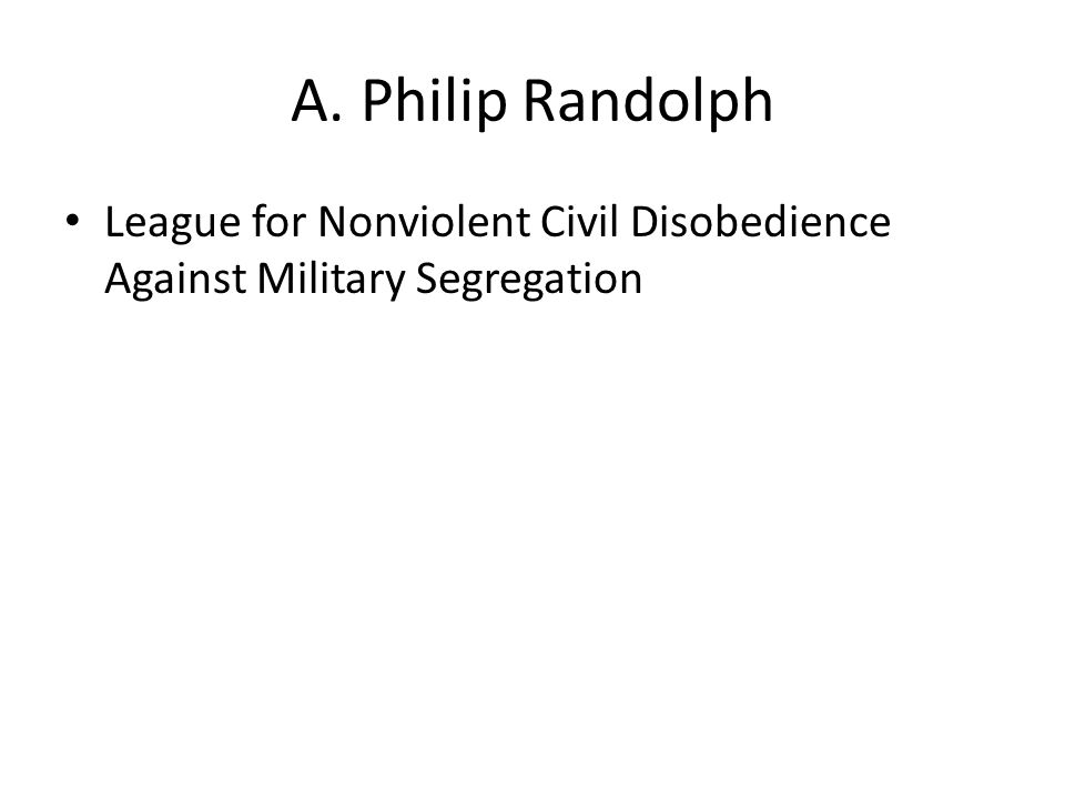 League for Nonviolent Civil Disobedience Against Military Segregation