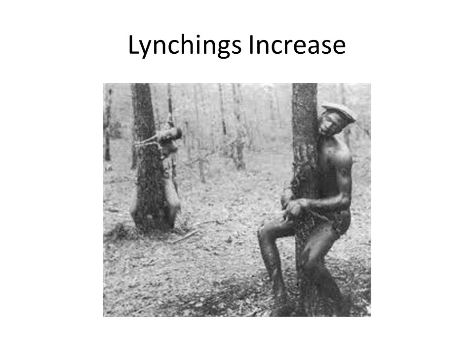 Lynchings Increase