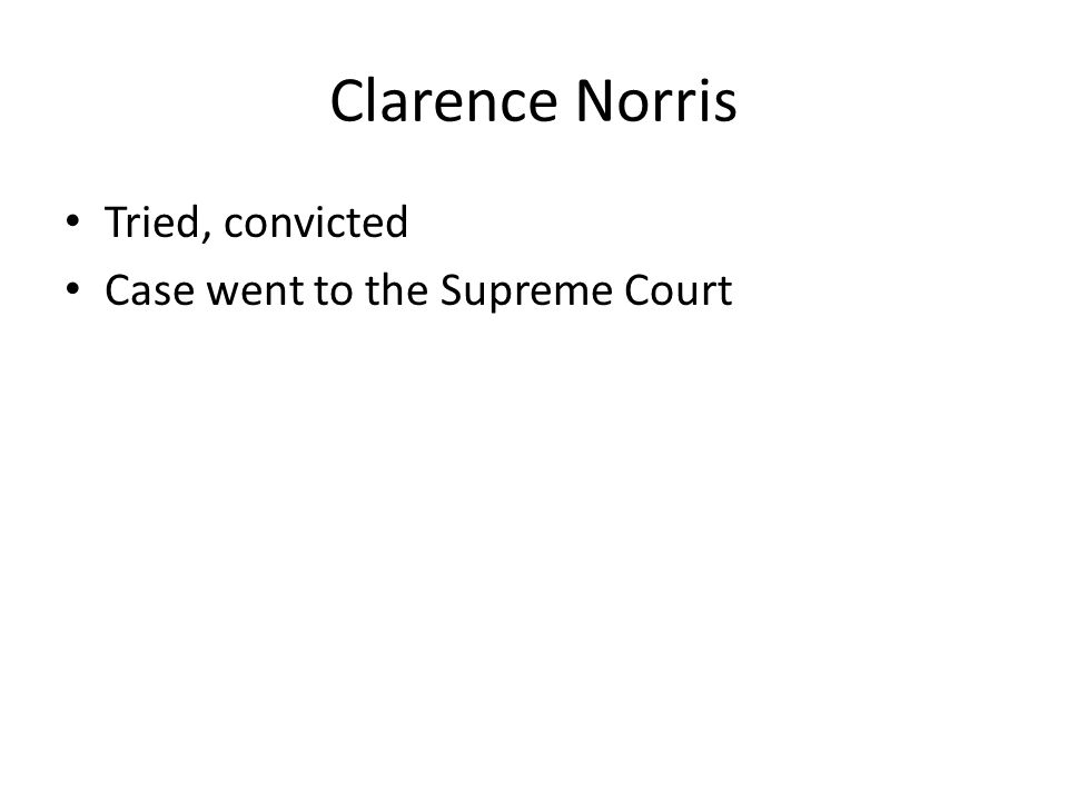 Tried, convicted Case went to the Supreme Court