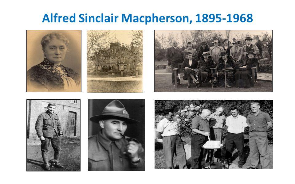 Alfred Sinclair Macpherson, 1895-1968