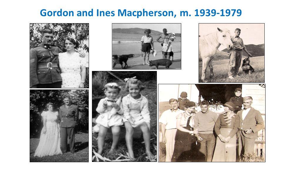 Gordon and Ines Macpherson, m. 1939-1979