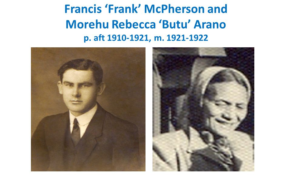 Francis 'Frank' McPherson of Wardwell, Inverkeithny, Banffshire, father John, mother Annie Allan, grandfather Alexander, gtgrandfather Francis, Frank born about 1878, died about 20 Feb 1922, aged 44