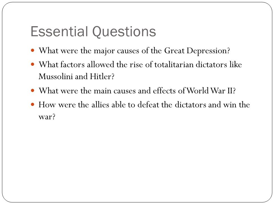 ww essay questions