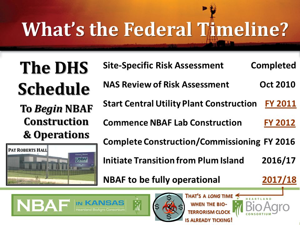 The DHS Schedule What's the Federal Timeline.