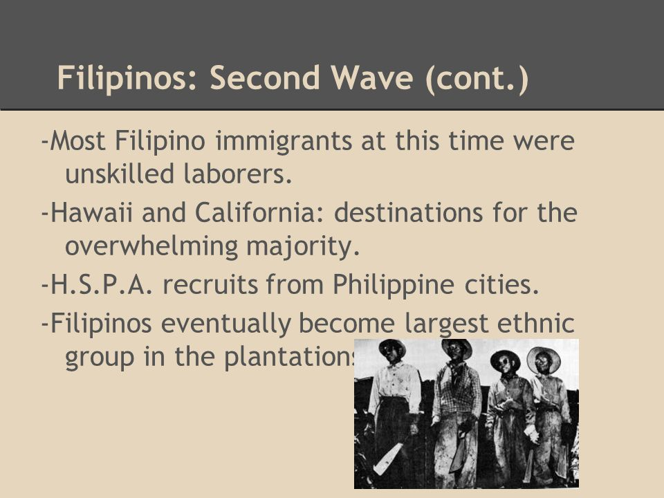 More Immigration ●2nd wave of immigration: (1949-1980's) ●The Magnuson Act, also known as the Chinese Exclusion Repeal Act of 1943.