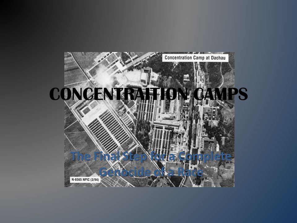 CONCENTRAITION CAMPS The Final Step for a Complete Genocide of a Race